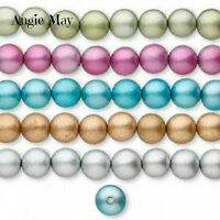 Wholesale 170 Mixed Metallic Colors 12mm Round Wood Beads Five 15 Strands