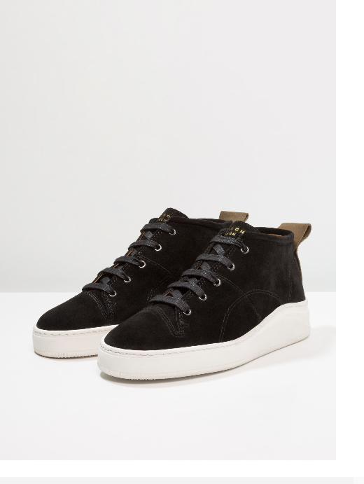 HUDSON NAGANO - High-top Black Suede Sneakers  UK6 41 RR-