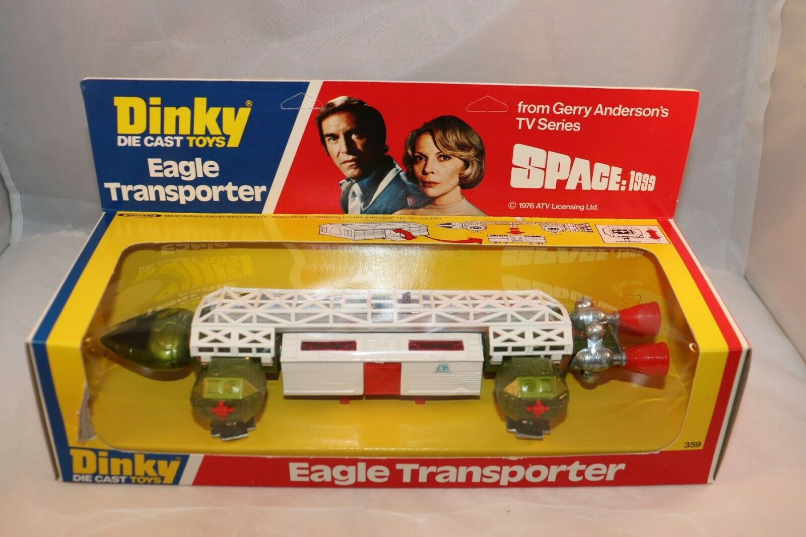 Dinky Toys 359 Eagle Transporter perfect mint in a SUPER box SEE THE PICTURES