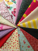 Patchwork Fabric Remnant Bundle Craft Mixed Offcuts Scraps Material FREE UK P&P