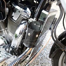 MOTORCYCLE BIKER LEATHER CUP DRINK CAN BOTTLE HOLDER HARLEY DAVIDSON SOFTAIL