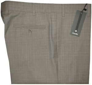 365-NWT-ZANELLA-ITALY-DEVON-KHAKI-TAUPE-SUPER-130-039-S-WOOL-DRESS-PANTS-42