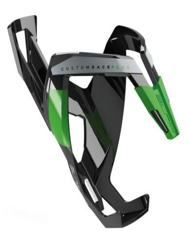 Elite bicicleta portabidones para botella de agua customraceplus brillo Black verde
