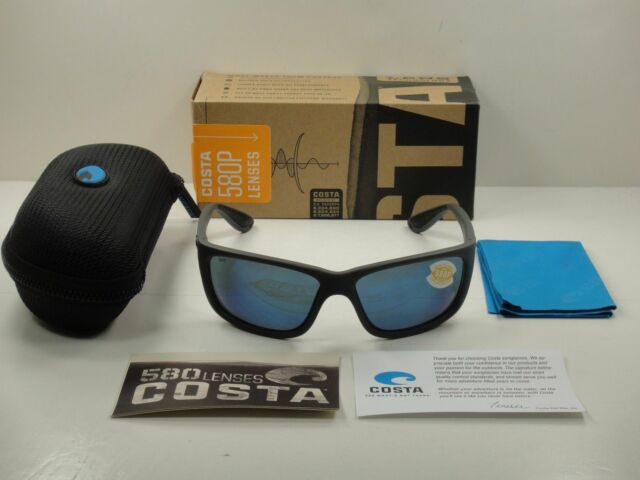 8c87de8bc5 Costa Del Mar Tasman TAS 98 Sea Matte Gray Sunglasses Blue 580p for ...