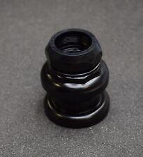 """Jeu de direction noir 25,4 mm - 22,2 mm en acier filetage anglais 1 pouce 1"""""""