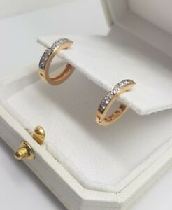 Yellow-gold-finish-huggie-hoop-created-diamond-earrings-gift-idea-free-postage