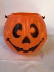 Vintage 1997 Grand Venture Pumpkin Jack O Lantern Halloween Pail Bucket