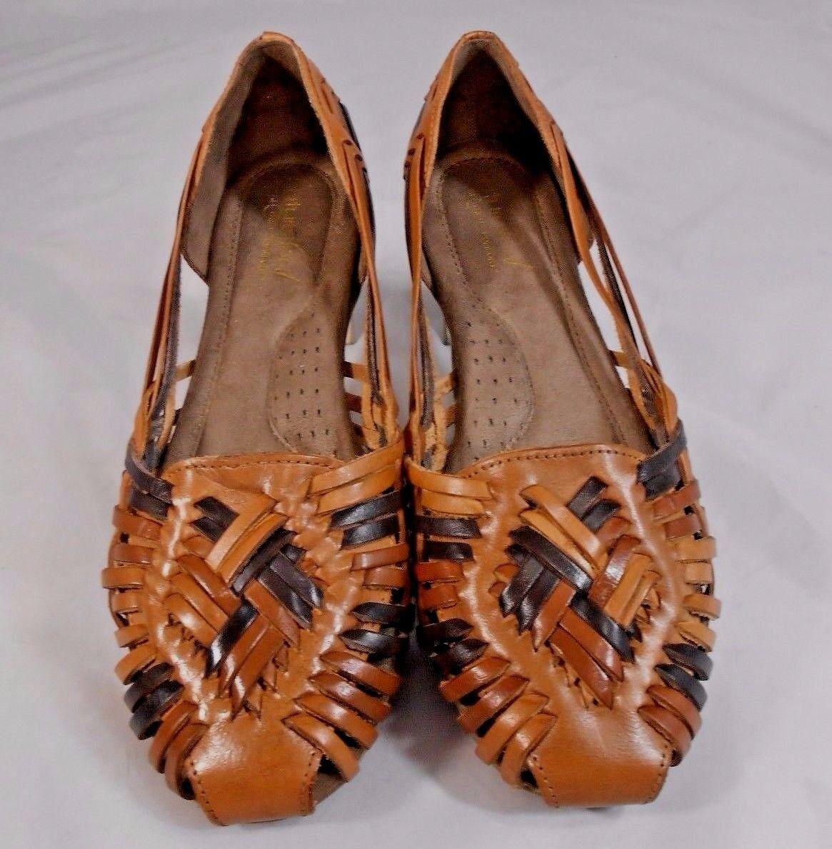 Natural Soul All Thru Comfort GRANDEUR 7.5 Womens Ballet Flats Size 7.5 GRANDEUR M Brown Tan b505f8