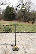 Mid Century Modern Brass Gooseneck Articulating Floor Lamp