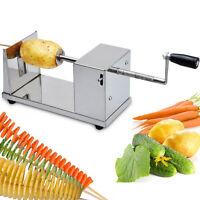 Manual Spiral Slicer Potato Chip Vegetable French Fry Spiralizer Cutter Twister