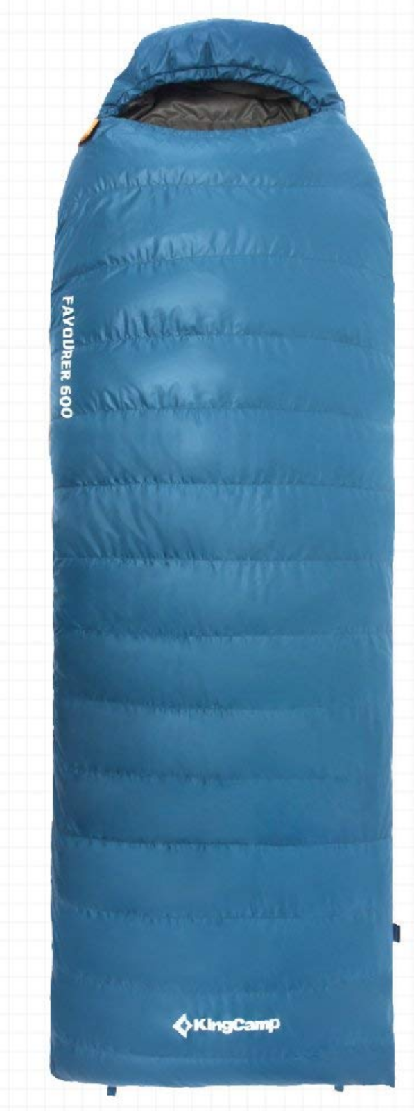 Down Sleeping borsa Hooded with Compression Sack nuovo blu