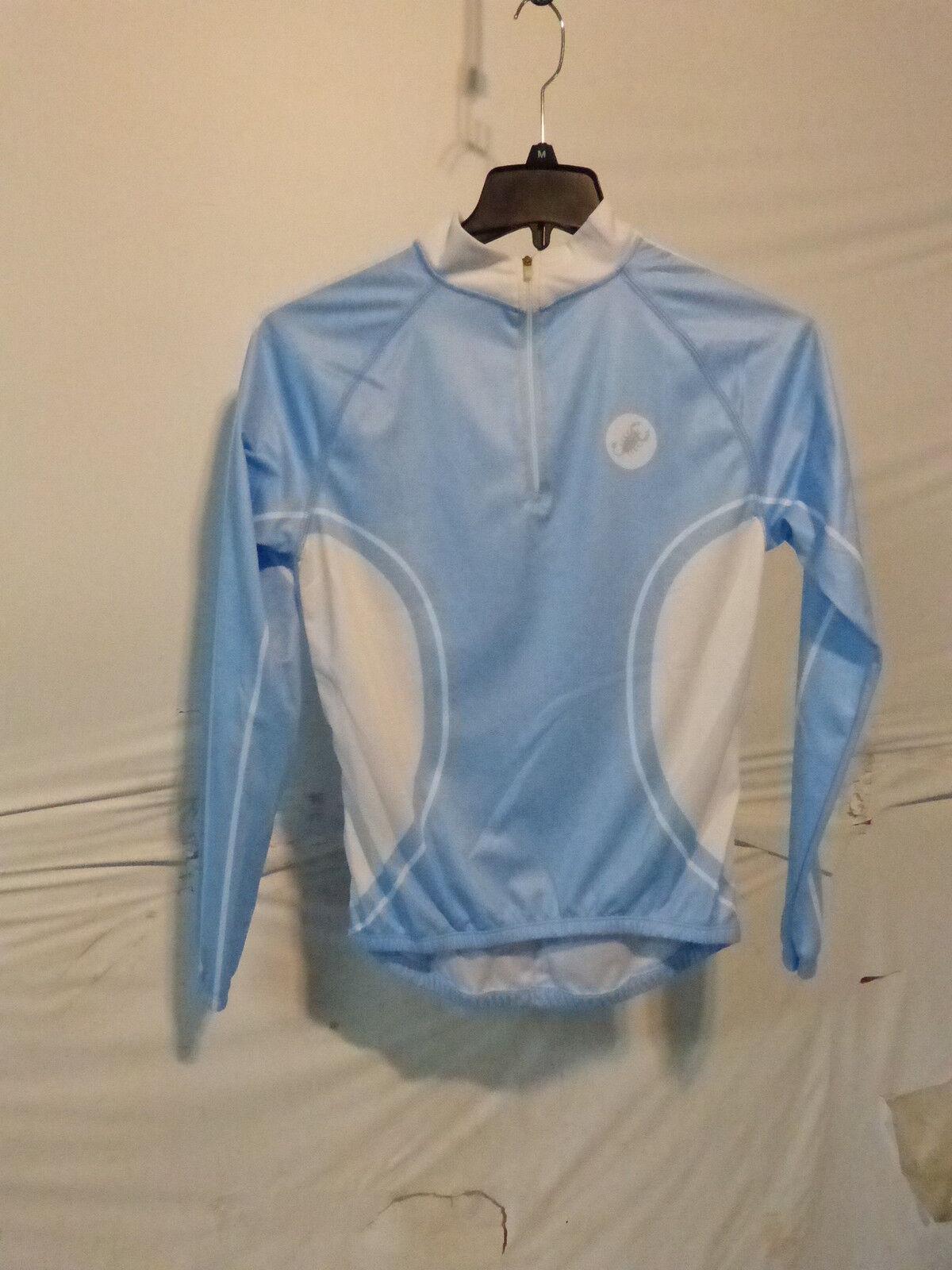 CASTELLI Men's Light bluee  White Long Sleeve Cycling Jersey Medium