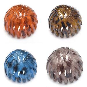 Women Girl Nest Tail Hair Bun Holders Grips Claw Crystal HairwearHairpin
