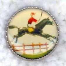 English Rider Horse Jumping Fence Button-WC10