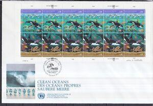 UNO-Genf-1992-FDC-MiNr-213-214-Zd-Bogen-Saubere-Meere