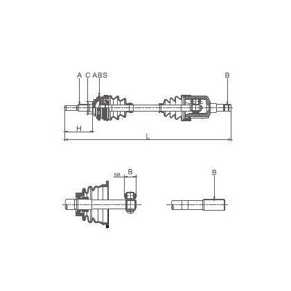 FEBI BILSTEIN 2x Lagerung Achskörper 08940//2x hinten beidseitig für MERCEDES 200
