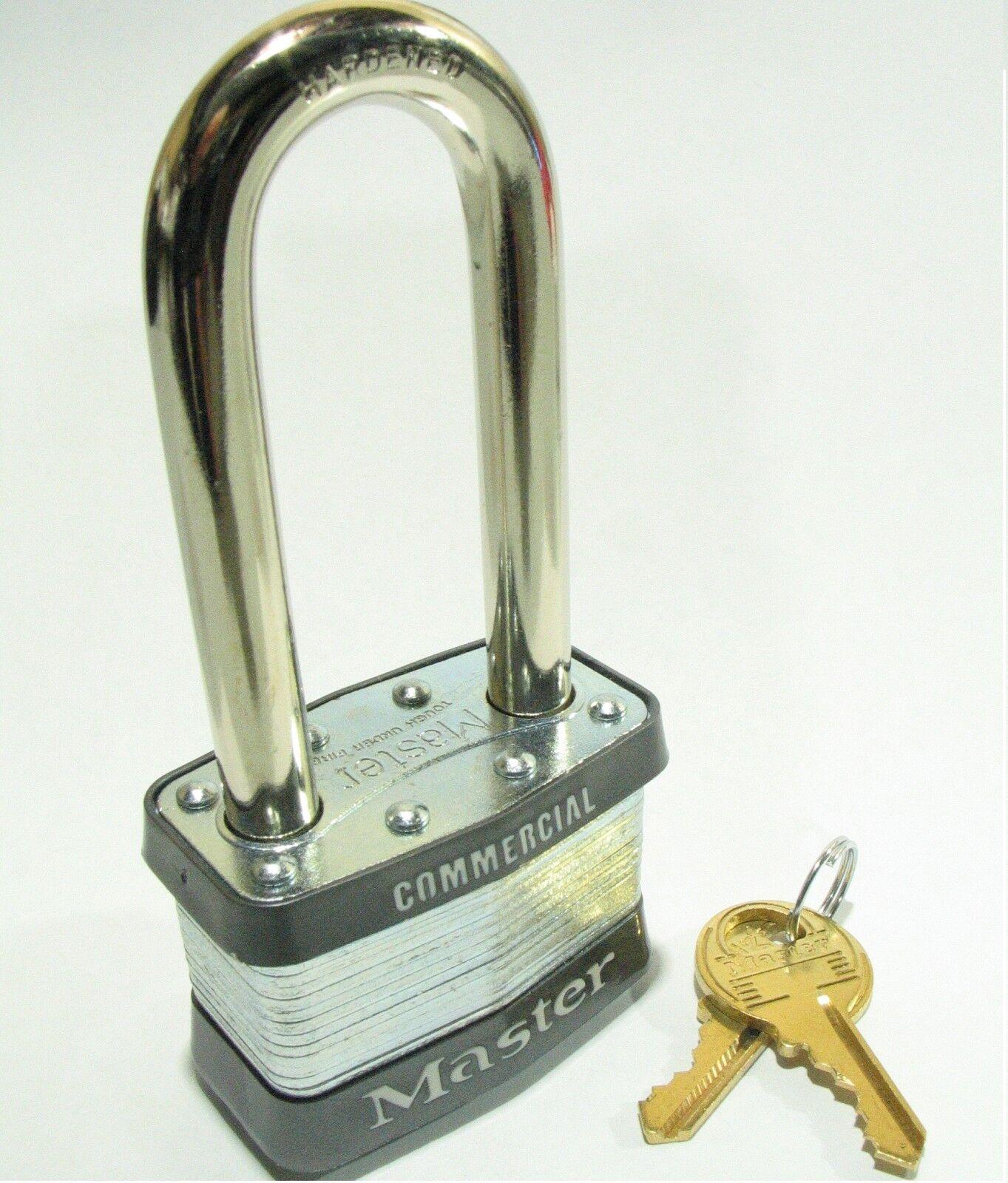 KEYED ALIKE Long Shackle Laminated Padlocks Lot of 6 Lock Set by Master 5KALJ