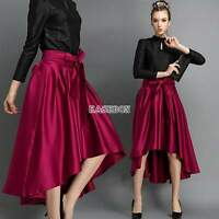 Chic Sexy Women Retro High Waist Flared Full A Line Party Midi Skate Skirt Dress