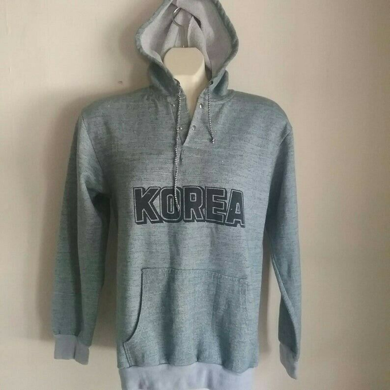 1988 South Korea map hoodie vintage double sided