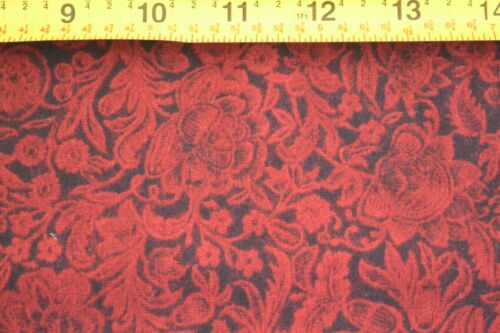 Red on Black Quilting Cotton RJR//Beyer//Summer Lily B668 8874-50 By 1//2 Yd