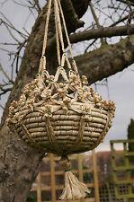 Plant Hanger Natural Jute Pot Holder Hanging Decoration Handicraft Gardening