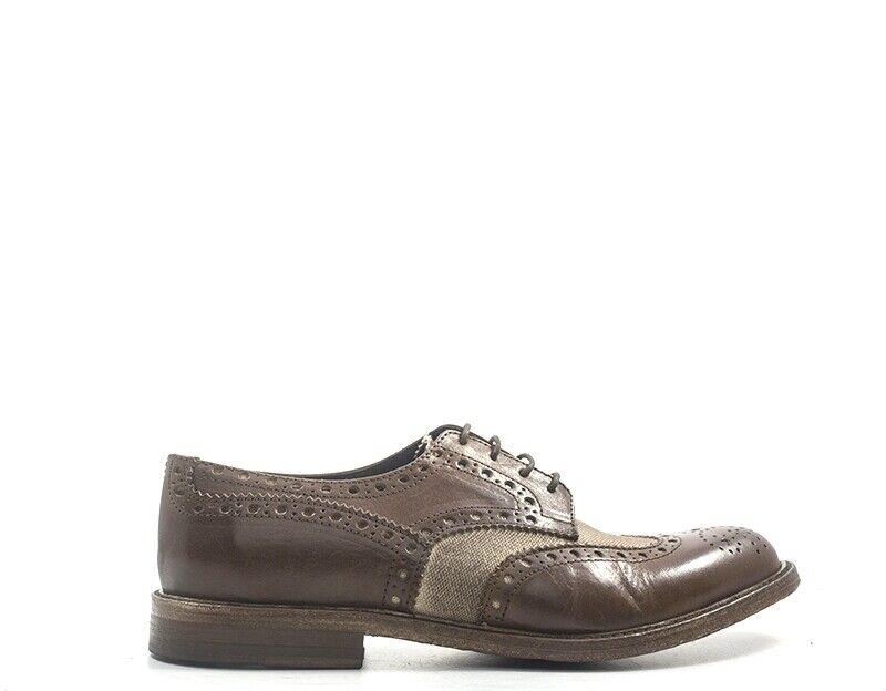 Chaussures mezzetinte Homme marron Brogue, Nature en cuir, tissu 5747-ma