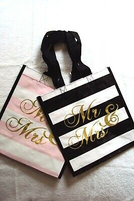 PERSONALISED MR AND MRS COUPLE TOTE SHOPPER SHOPPING BAG WEDDING GIFT