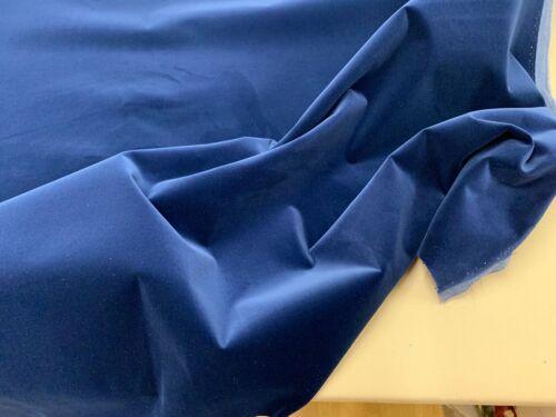 """Tennyson Blu Navy Royal Velvet IGNIFUGA 140cm//54/"""" Tappezzeria Stoffa"""