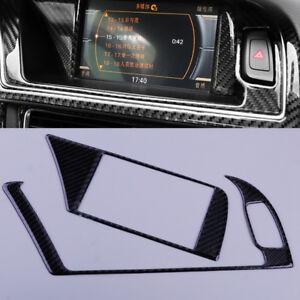 2X-Navigation-Navi-GPS-Panel-Verkleidung-Rahmen-Abdeckung-fuer-Audi-A4-A5-S4-S5