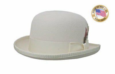 IVORY DERBY Shannon Phillips Morfelt DELUXE Cream Bowler Hat NEW NHT31-71