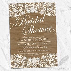 e8b6ebf7ec0 Image is loading Lace-and-Burlap-Bridal-Shower-Invitations-Shabby-Rustic-