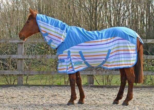 MAXIMA MULTI STRIPE WATERPROOF COMBO FLY RUG NEW FOR 2018 SIZES 4'9-7'0