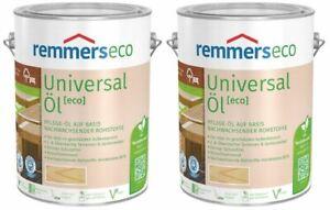 €10/L Spar Set REMMERS Universal Öl Eco Farblos 5 L (2x2,5) Möbel Bangkirai Teak