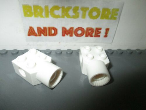 Lego 2x Brick Brique charnière hinge 2x2 rotation pin 48169 White//Blanc//Weiss