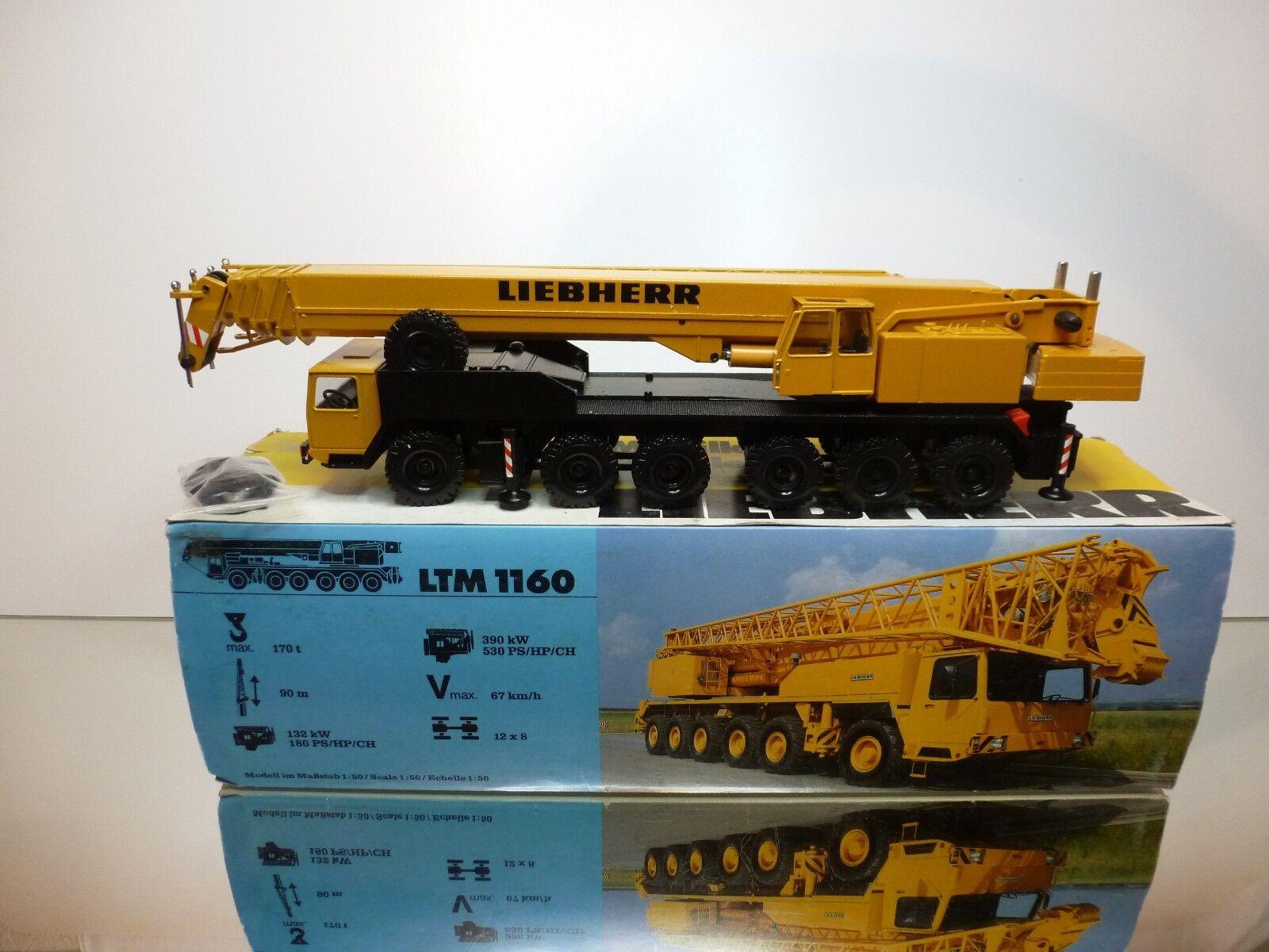 CONRAD 2082 LIEBHERR MOBILE CRANE LTM 1160 - giallo 1 50 - VERY GOOD IN BOX