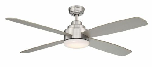 """Wind River 52/"""" Aeris Stainless Steel Finish LED Light Ceiling Fan WR1602SS"""