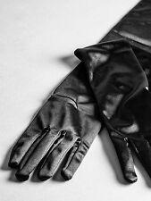 Ann Summers Para Mujer longitud del codo satén Guantes Sexy Negro Bondage Fancy Dress