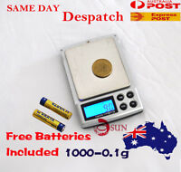 1000g 0.1g Digital Pocket Scales Jewellery Precision Electronic Weight Lab