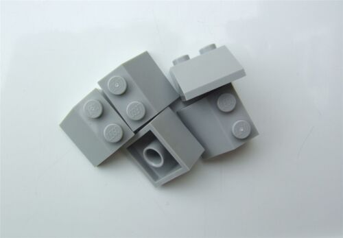 5 x Lego Grey ROOF TILE 2X2//45 degrees Parts /& Pieces 4211410