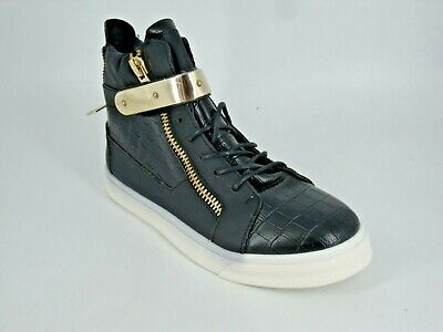 UnabhäNgig Creamberry's Fashion Hi Top's With Gold Bar Black Size Uk 6 Eu 39 Nh14 22