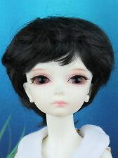 "5-6"" Black Short Wig for Lati Yellow BJD SD Dollfie"