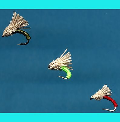 Your Choice of Hook Size One Dozen Flies Madam X Red Fly Fishing Flies