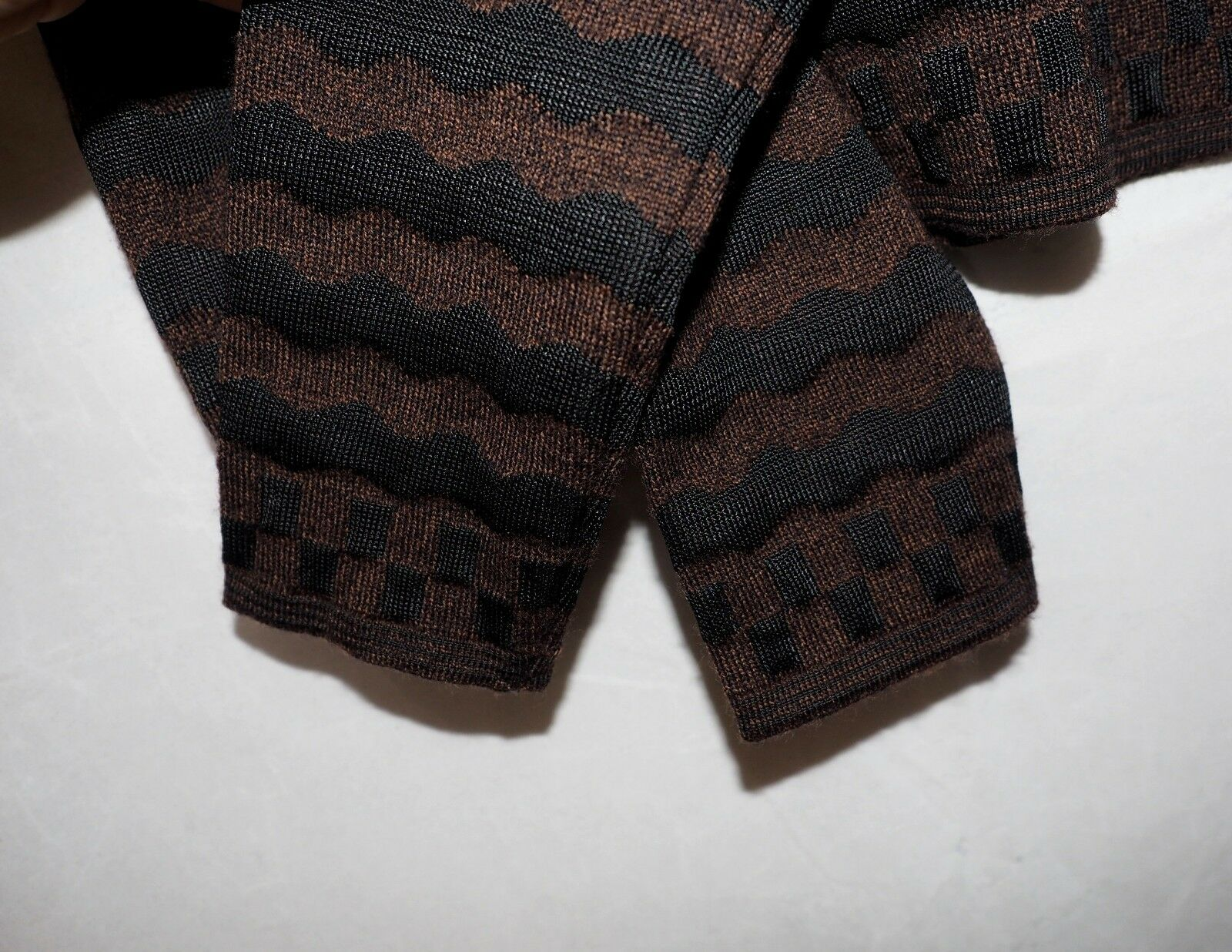 FENDI brown black wave wool sweater ladies jumper… - image 6