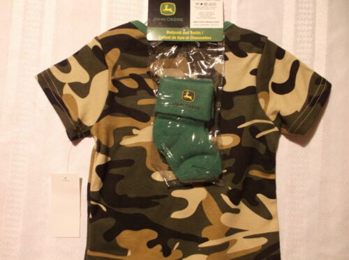 Baby John Deere Camouflage Bodysuit socks Set Size Choice 9 or 12 Month NWT