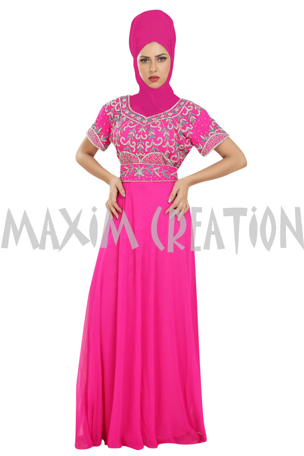 EXCLUSIVE TRADITIONAL MODERN DUBAI DAILY HOME WEAR KAFTAN ISLAMIC DRESS 6555