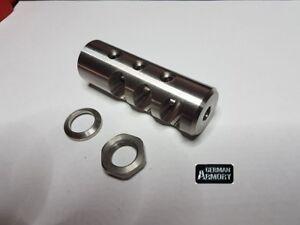 1-2x28-Ar-15-223-Delta-Kompensator-Muendungsbremse-Muendungsfeuerdaempfer-Edelstahl
