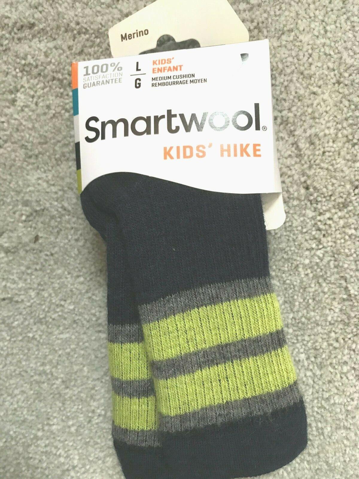 SmartWool Kids Striped Hike Hiking Socks Merino Wool Size LARGE NEW Pick One