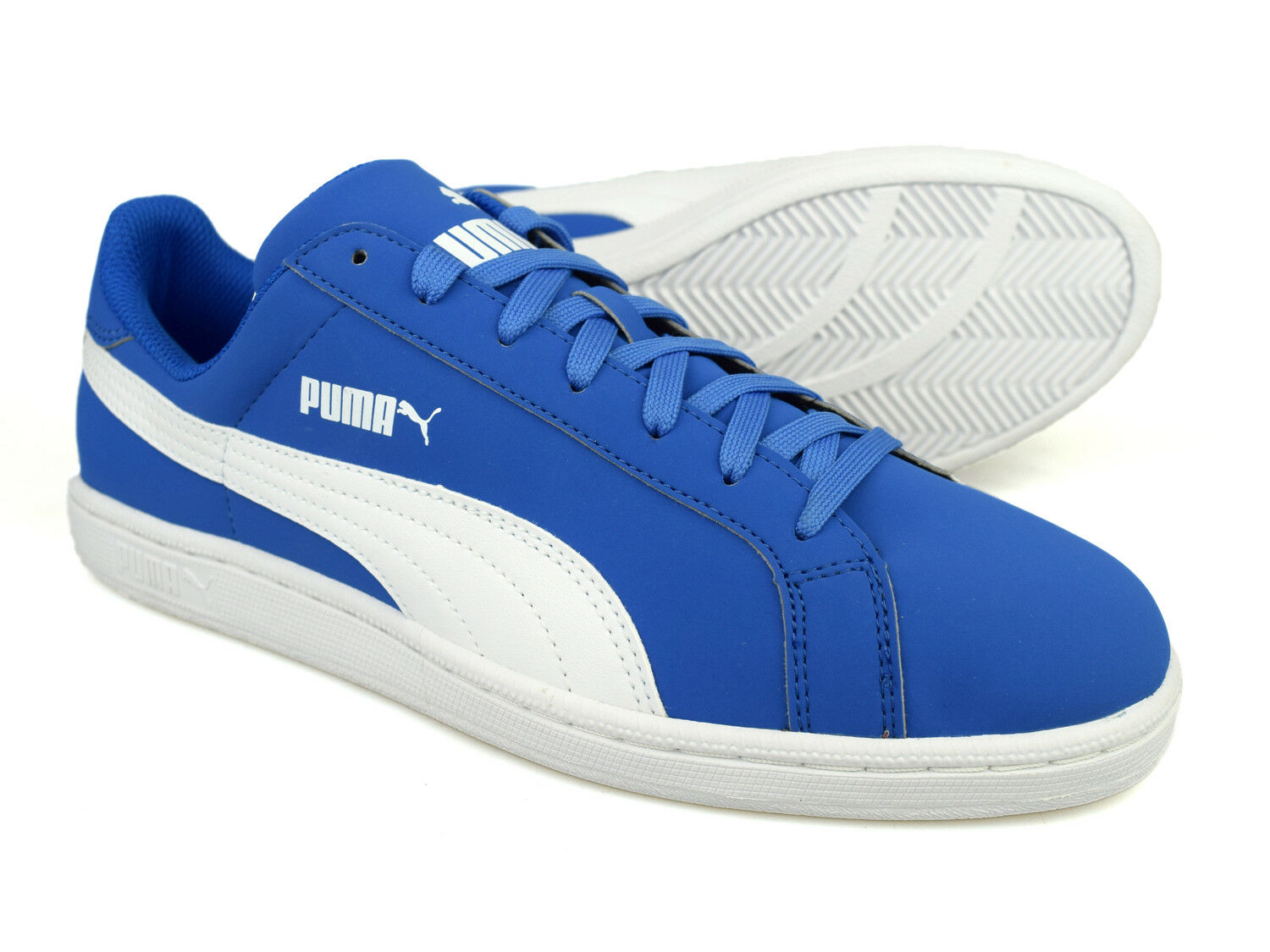 Puma Smash Buck Blue Adult Low-Top Casual Sports Trainers 356753-09