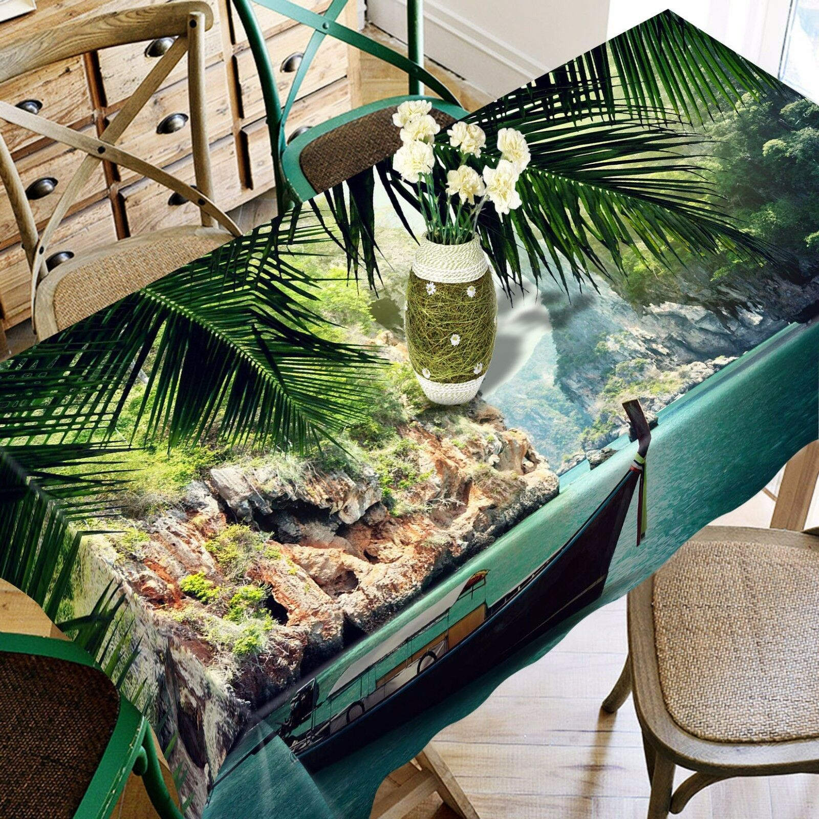 3D Sea Boat 469 Tablecloth Table Cover Cloth Birthday Party Event AJ WALLPAPER