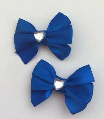 "X2 Wedding Flower Girls School Small 2"" Girls Teal Green Hair Bow Snap Clips"